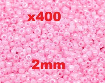 Pink seed beads