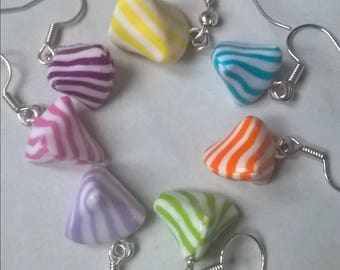 Earrings Berlingots fimo, different colors to choose from.