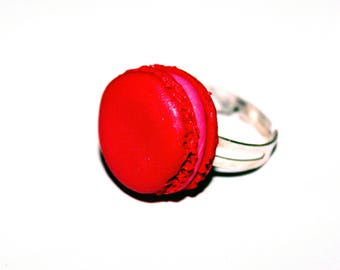 Ring adjustable macaron way red berries