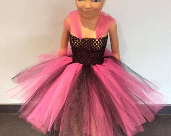 Fuchsia and black tutu dress 12-24 months