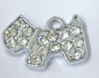 5 pieces Silver plated puppy alloy charm Pendant A0333