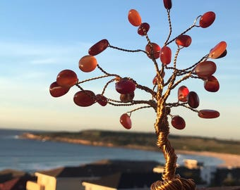 Red Agate Tree of Life