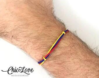Colombia Men's Bracelet, Pulsera de  Colombia, Colombian Bracelet, Colombian Flag, Men Bracelet.
