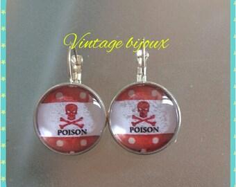 """Silver earrings """"poison rock"""""""