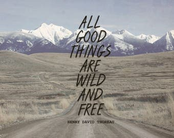 HENRY DAVID THOREAU Quote Print! 8x10 Digital Download
