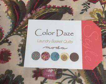 Color Daze print layer cake