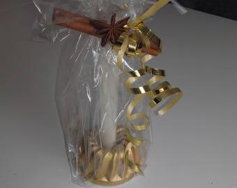 """Candleholder """"little cake"""" gold"""