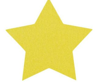 Star 10 X 9.5 cm yellow velvet fusible pattern