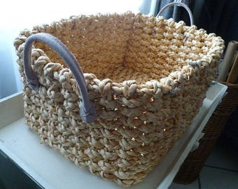 Rectangular wicker basket with soft 28 * 37