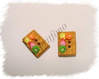"Button ""waffle fruit"" Fimo"