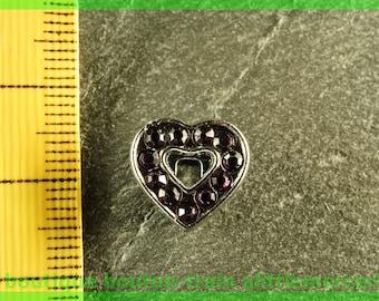 Pearl Heart busy N4 full rhinestone bracelet