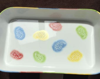 Small Indian pattern porcelain dish