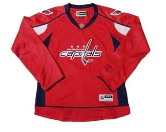 Reebok Women's Premier NHL Jersey Washington Capitlas Team Red Sz. L