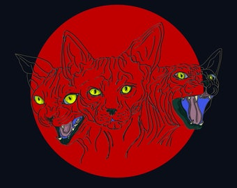 Sphynx Cat Print