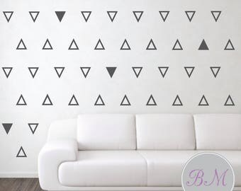 Triangle Wall Stickers, Triangle Wall Decals, Triangle Stickers, Wall Stickers