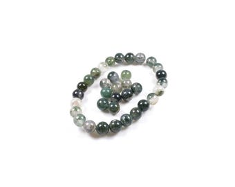 MOSS agate natural 6mm LBP00494 10 beads