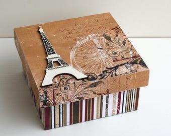 """Secret """"vélocipède Paris"""" wooden box"""