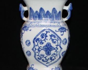 Ceramic Blue white vase