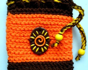 Purse made entirely by hand crochet * solar *.