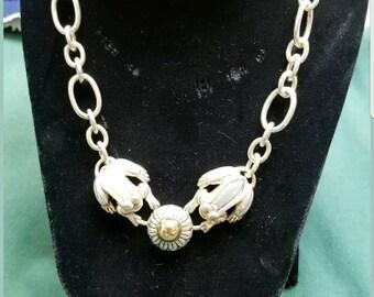 Barry Kieselstein 14kt/sterling choker necklace