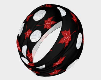 Canadian Volleyball Headband, Workout Headband, Volleyball Headband
