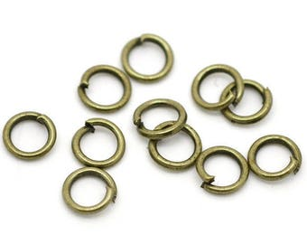 set of 30 12 mm bronze rings / jump rings