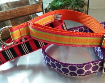 Limited Slip Collar - Adjustable - Stripes - 1 inch Wide