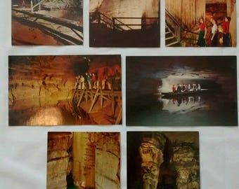 Vintage Mammoth Cave Postcards Lot, Unposted, Unused, c 1960s 1970s, Kentucky, Souvenir