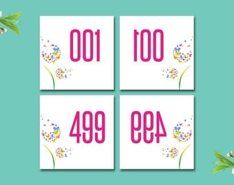 Dot Dot Smile Live Sale Number 1-500 Normal / Mirrored, DDS Facebook Live Sale, DotDotSmile Business Card, Butterfly DDS05