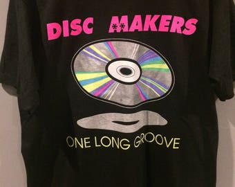 90s Disc Makers one long groove vintage tshirt