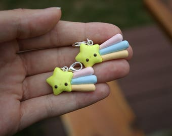 Polymer Clay Shooting Star Charm