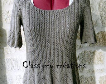 dress/tunic hand knitted stitch openwork