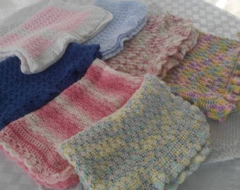 Soft and cozy crocheted baby blankets