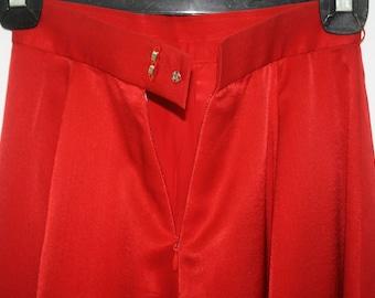 Yves Saint Laurent YSL Red Shiny Logo Skirt