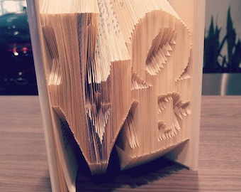 PHILLY LOVE BOOKFOLDING Finished Bookami BookArt Valentines Day