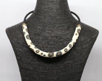 Miyuki seed bead spiral necklace