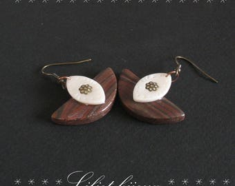 IVORY BROWN EARRINGS