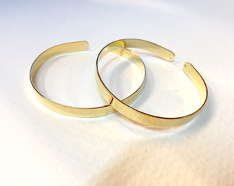 5 bracelets bangles gold fine 6mm for jewelry designs
