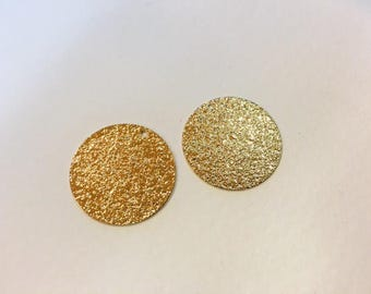 6 glitter sequins 25mm for jewelry designs