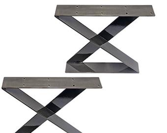 Z shape metal legs, (set of 2), steel leg, coffee table legs, metal table legs, bench legs
