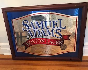 Samuel Adams Beer Mirror Sign