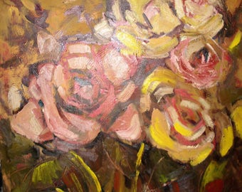 Floral painting. Oil painting