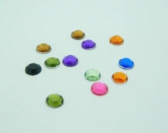 44 x rhinestone round 7mm (l1150)