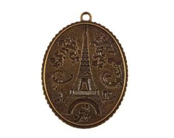 1 Paris Eiffel Tower (Ref.66) oval Locket charm