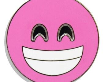 Emoji Teeth Rose Gold Hard Enamel Pin
