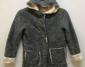 Rare!!! Zara Knit Hoodies Full Buttons With Tag