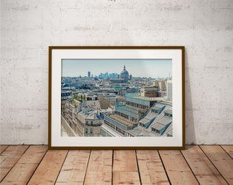 Metal Print - Paris, City View Photography - Metalic Aluminum Print, Fine Art, Wall Art, Nature Print, Home Decor, Photography