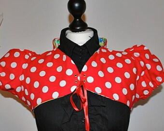 Red Pixie Bolero lined cotton