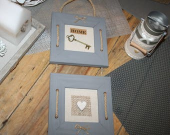 2 frames taupe gray home heart key