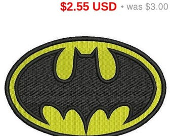 Sale 15% Batman logo embroidery design / embroidery designs / INSTANT download machine embroidery pattern